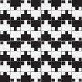 Black and white optical illusion vector seamless pattern background lines appear to tilt but image consists of squares only Stock Photos