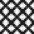 Black and white optical illusion vector seamless pattern background lines appear to tilt but image consists of squares only Royalty Free Stock Photos