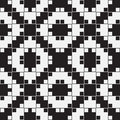 Black and white optical illusion vector seamless pattern background lines appear to tilt but image consists of squares only Royalty Free Stock Images