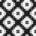 Black and white optical illusion vector seamless pattern background lines appear to tilt but image consists of squares only Stock Image