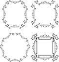 Black and white ornamental frame. Monogram element