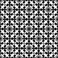 Black & white ornamental seamless pattern