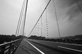 Black and white overpass bridge Royalty Free Stock Image