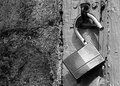 Black and white padlock Royalty Free Stock Photo