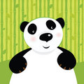 Black and white panda bear Royalty Free Stock Photo