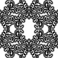 Black and white pattern Stock Image
