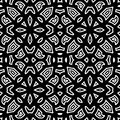 Black and white pattern abstract seamless Stock Photo