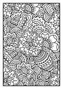 Black and white pattern. Ethnic henna hand drawn background.