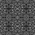 Black and white pattern seamless floral Royalty Free Stock Photos