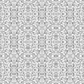 Black and white pattern seamless floral abstraction Stock Photography