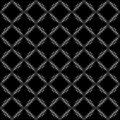 Black and white pattern seamless with openwork diamonds Stock Images
