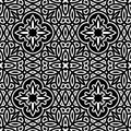 Black and white pattern vintage ornament seamless Royalty Free Stock Photos