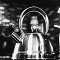 Black and White Tea Kettle Royalty Free Stock Photo