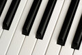 Black and White Piano Keys Royalty Free Stock Photo