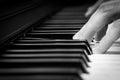 Black and white piano Royalty Free Stock Photo