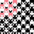 Black White Pink Cat Rabbit Chess board Background Royalty Free Stock Photo