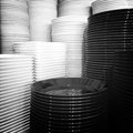 Black and white plates Royalty Free Stock Photo