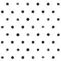 Black and white Polka Dot Seamless Pattern Paint