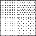 Black white polka dots seamless pattern white background Stock Photography