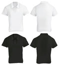 Black and White Polo Shirt Design Template