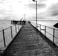 Point Turton Jetty in Black and White