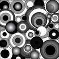Black and White Psychedelic Circles Royalty Free Stock Photo