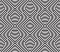 Black and White Psychedelic Circular Textile