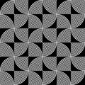 Black and white psychedelic circular textile pattern vector illustration Royalty Free Stock Image
