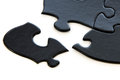 Black and white puzzle pieces Royalty Free Stock Photo