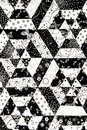 Black and White quilt pattern Stock Photo