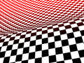 Black, white, and red checks Royalty Free Stock Photo