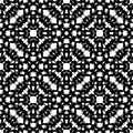 Black & white repeat ornamental texture, monochrome seamless pattern