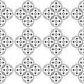 Black and White Retro Pattern Royalty Free Stock Photography