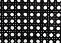 Black and white retro weave pattern Stock Photos