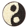Black and white rice Royalty Free Stock Photos
