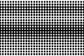 Black white rough dotted gradient. Half tone background. Royalty Free Stock Photo