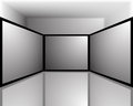 Black and white screens abstract of three for designers for various necessities Stock Images