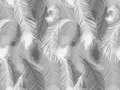 Black and white seamless feather pattern. Seamless background with beautiful feathers of bird Royalty Free Stock Photo