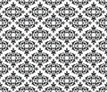 Black white seamless floral wallpaper pattern image illustration Stock Image