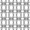 Black and white seamless geometric patter background design modern stylish texture repeating and editable can be used for prin Stock Photography