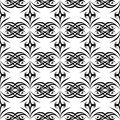 Black and white seamless geometric patter background design modern stylish texture repeating and editable can be used for print Royalty Free Stock Photos