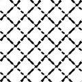 Black and white seamless geometric pattern. Repeatable texture /