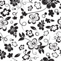 Black white seamless pattern Stock Images