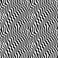 Black & white seamless pattern with abstract curved lines