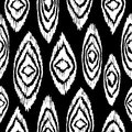 Black and white seamless pattern with boho shapes hand drawn paint elements in vintage fashion style background ideal for fabric Royalty Free Stock Photos