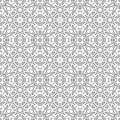 Black and white seamless pattern. Decorative ornament for coloring book Royalty Free Stock Photo
