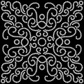 Black white seamless pattern dotted swirls Royalty Free Stock Images
