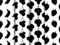 Black and white seamless pattern with fruit. Pattern of bananas, cherries, strawberries and grapes. Royalty Free Stock Photo