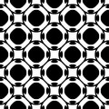 Black & white seamless pattern, geometric texture