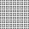 Black & white seamless pattern, geometrical shapes, repeat tiles